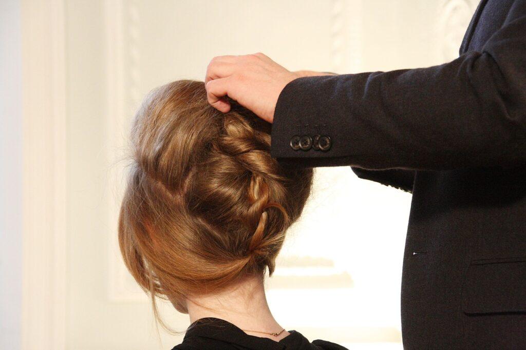 demonstration, hair, model