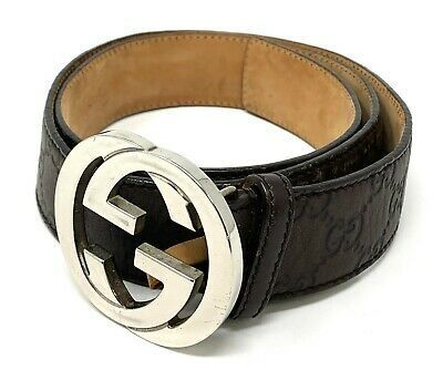 Interlocking Gucci belts