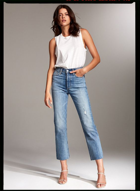 Curvy jeans top