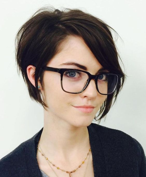 Long Side Bangs With Glasses