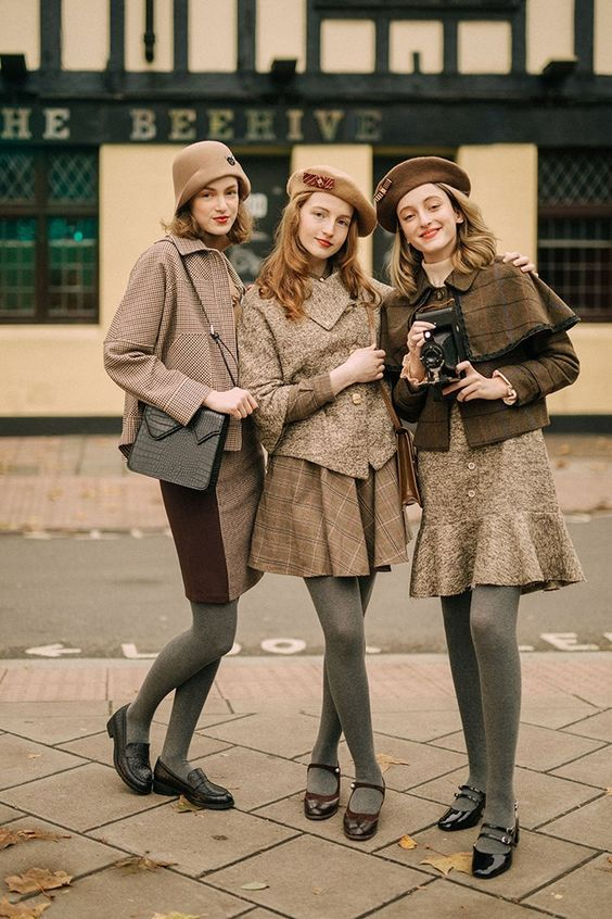 Retro style vintage fashion
